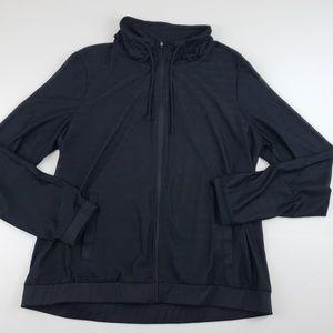 RBX womens sheer black funnel neck jacket xlarge